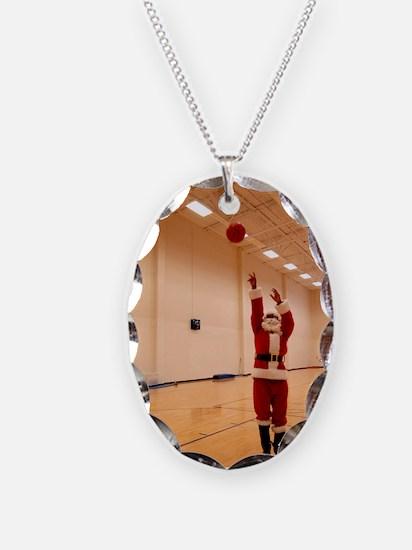 Basketball Santa Necklace