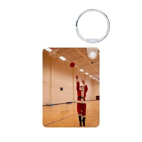 Basketball Santa Aluminum Photo Keychain
