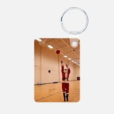 Basketball Santa Keychains