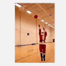 Basketball Santa Postcards (Package of 8)