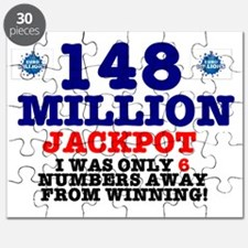 148 MILLION JACKPOT - ONLY 6 NUMBERS AWAY Puzzle