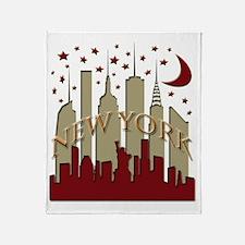 New York City Skyline hot Throw Blanket