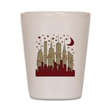 New York City Skyline hot Shot Glass