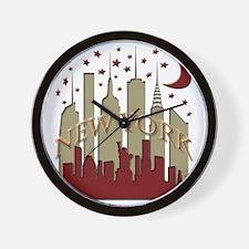 New York City Skyline hot Wall Clock