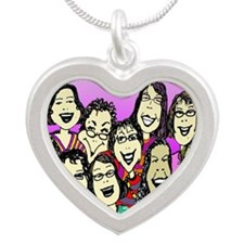 Gathering of the Goddesses 2 Silver Heart Necklace
