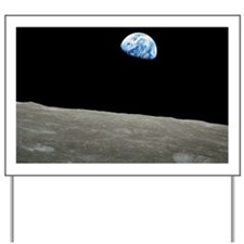 Earth Rise From Moon Yard Sign