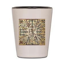 mayan calander Shot Glass