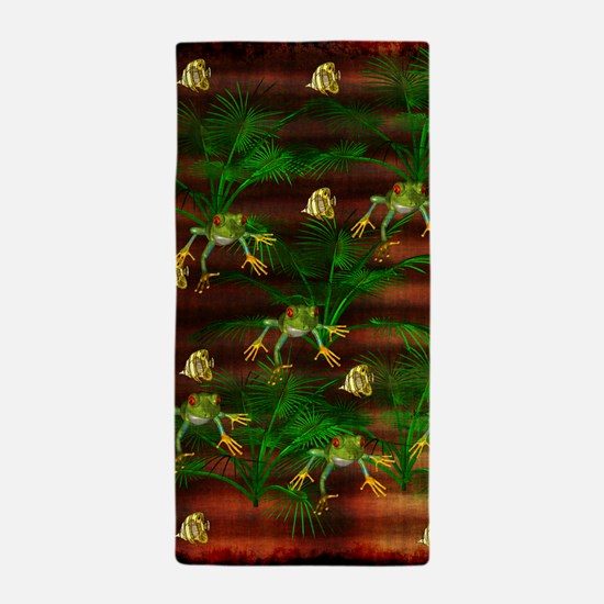 Toads and Fishes Beach Towel