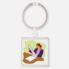 OfficeWork_0067.gif Square Keychain