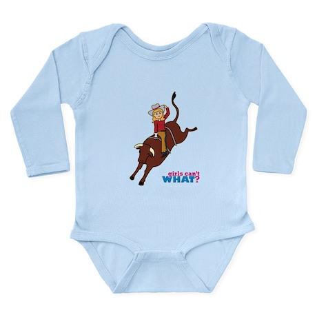 Bullrider Woman Long Sleeve Infant Bodysuit