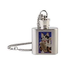 Maneki Neko of Abundance Flask Necklace