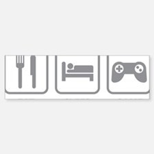 eatSleepGame1C Sticker (Bumper)