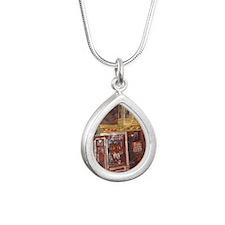 Philadelphia Franklin Fo Silver Teardrop Necklace