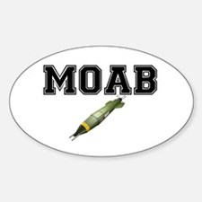MOAB - MOTHER OF ALL BOMBS Sticker (Oval)