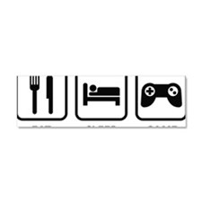 eatSleepGame1A Car Magnet 10 x 3