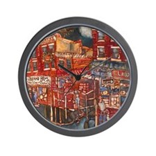 Philadelphia Claudio and DiBruno Houses Wall Clock