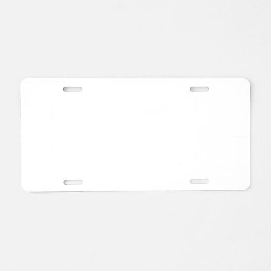 eatSleepRead1B Aluminum License Plate
