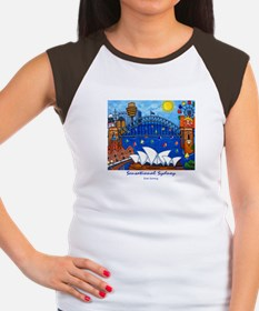 Original Sydney Painting - Women's Cap Sleeve Tee