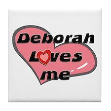 deborah loves me  Tile Coaster