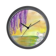 Wisteria Meditation Wall Clock