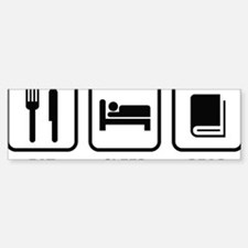 eatSleepRead1A Sticker (Bumper)