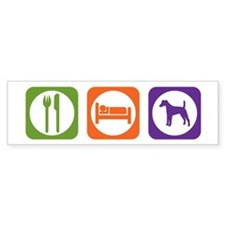 Eat Sleep Terrier Bumper Bumper Sticker