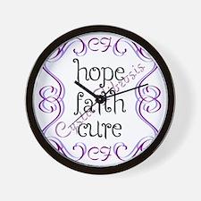 CF Hope Faith Cure Curls Wall Clock