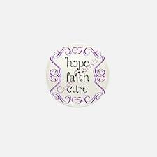 CF Hope Faith Cure Curls Mini Button