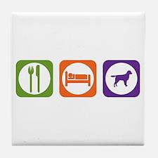 Eat Sleep Stabyhoun Tile Coaster