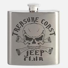 Treasure Coast Jeep Club Skull Logo Flask