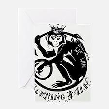 Laughing Monkey Burning Man Logo 201 Greeting Card