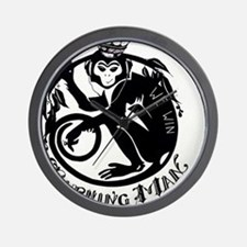 Laughing Monkey Burning Man Logo 2012 Wall Clock