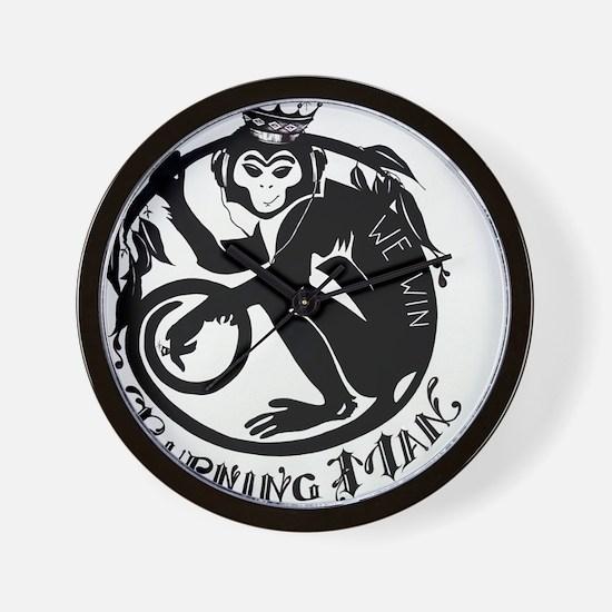 Laughing Monkey Burning Man Logo 2012 Wall Clock