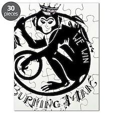 Laughing Monkey Burning Man Logo 2012 Puzzle