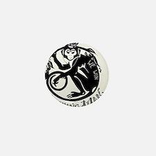 Laughing Monkey Burning Man Logo 2012 Mini Button