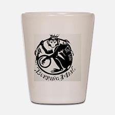 Laughing Monkey Burning Man Logo 2012 Shot Glass