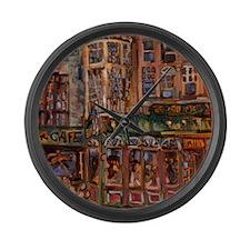 Philadelphia Irish pub on Walnut  Large Wall Clock