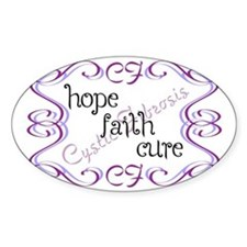 CF Hope Faith Cure Curls Decal