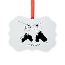 Aikido sword black w/text Ornament