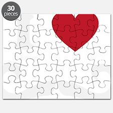 I Love Moustache Puzzle