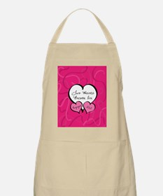 Pink Two Hearts Become One Engaged 2012 Apron