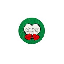 Red Green Two Hearts Engaged 2012 Mini Button