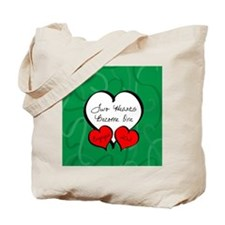 Red Green Two Hearts Engaged 2012 Tote Bag