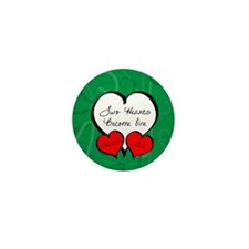Red Green Two Hearts Married 2012 Mini Button