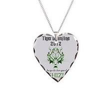 2012 TDL Logo - White Necklace Heart Charm