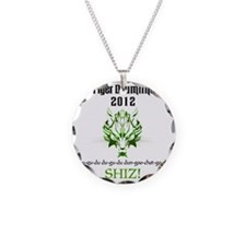 2012 TDL Logo - White Necklace Circle Charm