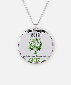 2012 TDL Logo - White Necklace Circle Charm