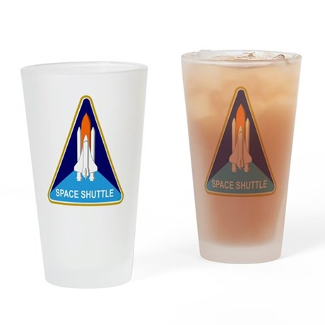 Space Shuttle Shield Drinking Glass