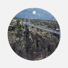 Royal Gorge Bridge Jan Round Ornament