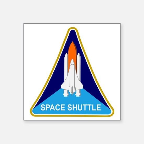 """Space Shuttle Shield Square Sticker 3"""" x 3"""""""